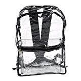 Femmes Transparent Sacs à dos PVC Sac de plage Voir au travers Femme Fille claire Bagpack Sac d'école Republe