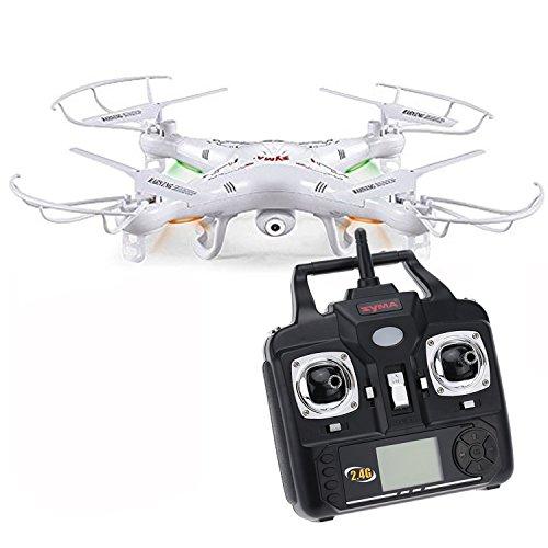 Syma X5C-1/ X5C Drone Quadcopter de 6 Ejes con Cámara HD de alta definición y Control Remoto 2.4G 4CH RTF 2G TF Tarjeta