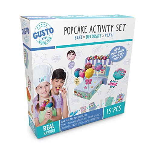 Childrens Cake Pop Maker Incs Silicone Cake Pop Moulds, Piping Bag w/ 4  Nozzles, Sticks, Popcake Display, Sticker Set, Recipe Card & more! Great