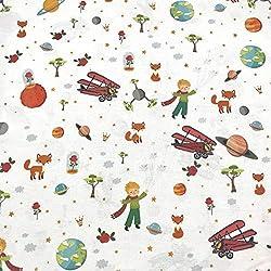 Tissu d'ameublement au mètre - Coton imprimé - Largeur 280 cm - Longueur au choix par 50 cm | Le Petit Prince. Multicolore