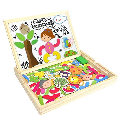 Puzzle lavagna magnetica gioco di legno doppio lato magnetico tavola montessori giochi per bambini 3 4 5 anni