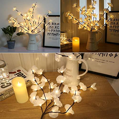 �r Innen und Außen geeignet Warmweiß Dekozweige Led Niederlassungen Batteriebetriebene dekorative Lichter Für Home Room Decor ()