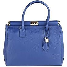 Chicca Borse Handbag Borsa a Mano da Donna con Tracolla in Vera Pelle Made  in Italy 807d9ea045c