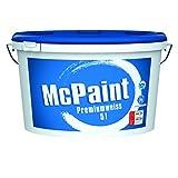 McPaint Wandfarbe Premiumweiß für den Innenbereich, matt 5 Liter, weiß - weitere Größen verfügbar