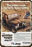 Laptopo 1977 Jeep GOLDEN Eagle CJ-5 & CJ-7 Limited 4X4 Vintage Edge Replica Metal Sign