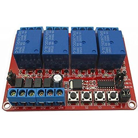 kaisil Sensor/Módulo de de 4Vías selbsthemmende bloqueo Trigger 3Support de alta y baja de ruido Dispara Módulo de relé 24V DC24V