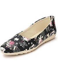 AlexaStar Women Flat Belly Shoes Comfortable Slip On Pointed Toe Girls Ballet Flats/Bellies/Ballerina