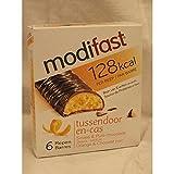 Modifast Tussendoor en-cas Sinaas & Pure Chocolade 6 x 31g Packung (Snack Riegel Orange & Dunkle Schokolade)