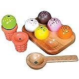 Eiscreme-Set Eiskugel Waffel für Kinderküche 600280