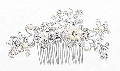 Milopon Kopfschmuck Haarschmuck mit Kamm für Hochzeit Braut Brautjungfern, Hochzeit Kleid Accessoires Braut Haarnadel Dance Zubehör