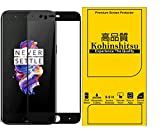 Kohinshitsu Oneplus 5 Screen Guard - Kohinshitsu 3D Tempered Glass Screen Protector for Oneplus 5 / 1+5 / One Plus 5 Mobile Phone 2017 Model - Black Color