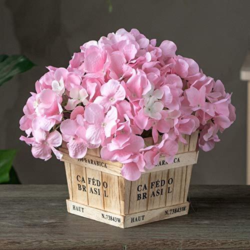 Jnseaol fiori artificiali con vaso incluso bagno da interno bouquet per esterno balcone decorazione di davanzale della finestra del soggiorno della finestra