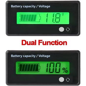 c694b452444176 Testeur de Batterie numérique Compteur de capacité de capacité,12V   24V    36V   48V LCD Testeur de capacité de Batterie au Plomb,3.7V indicateur de  ...