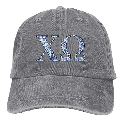 Narekr Chi Omega Blue Plant Adult Sport Adjustable Structured Baseball Cowboy Hat (Omega Baseball)