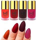 #10: MI Fashion Matte Nail Polish Pack of 4(9.9 Ml Each)