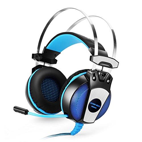 Tsing Écouteur de jeu casque Gaming confortable PC / PS4 / Mac / casque Mobile Jeu stéréo 3.5mm avec microphone à haute sensibilité (GS500)