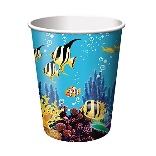 PARTY DISCOUNT Becher Ozean, 256 ml, 8 Stück