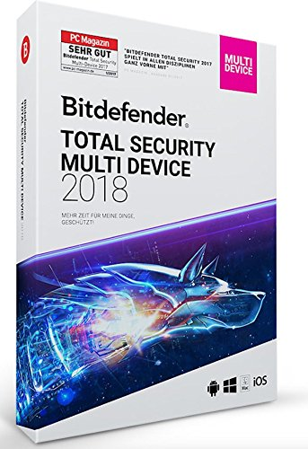 Bitdefender total Security 2018 - 5 dispositivos MultiPlataforma (Android, iOS,...