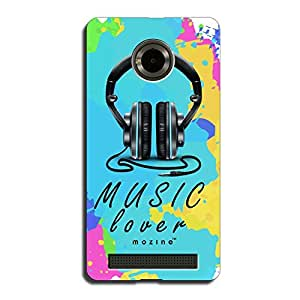 Mozine Music Lover Printed Mobile Back Cover For YU Yuphoria