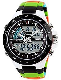 TONSHEN Multifuncional Digitales Relojes de Hombre Mujer Chico Deportivos Outdoor Militares Táctica Acero Inoxidable e Plástico Relojes de Pulsera Outdoor Waterproof 50M Resistente Agua
