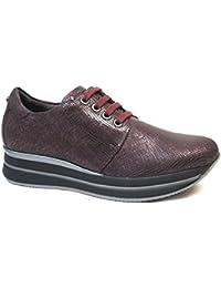 PITILLOS Zapato Deportivo Fabricado EN Piel 1332 Color Rojo Burdeos - Color - Burdeos, Talla - 37