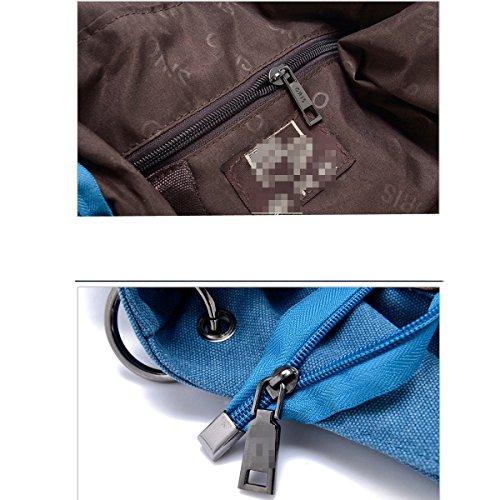 Leinwand Frauen Große Kapazität Art Und Weise Wearable Atmungsaktiv All-Gleiches Taschen Handtasche Brown2
