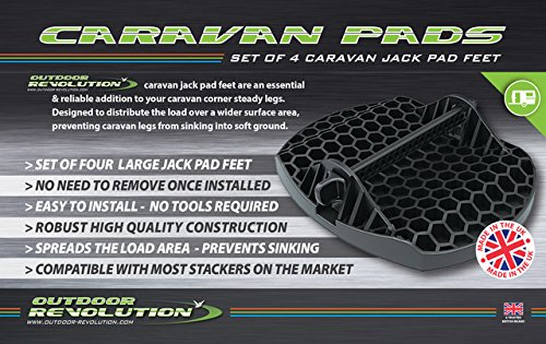 Outdoor Revolution Bases estabilizadoras para patas de caravana (4 unidades)