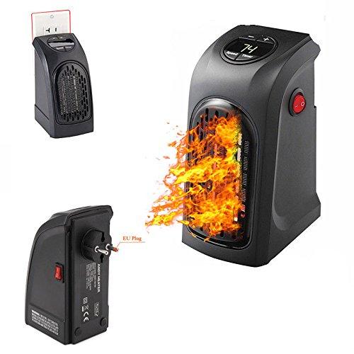 lavendei Radiador eléctrico Calefactor cuarto de baño salón escritorio cámara–Mini calefactor de con termostato ajustable Puissant 350Watts bajo consumo–negro