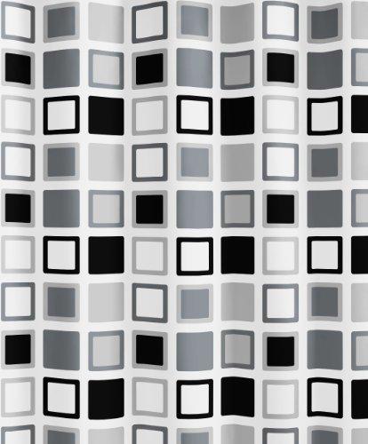 Kleine Wolke 5209901305 Duschvorhang Clipper, 180 x 200 cm, anthrazit