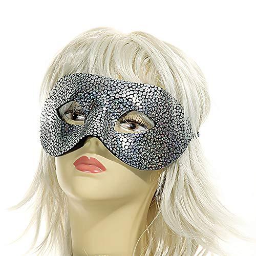Preis am Stiel Venezianische Augenmaske Glamour | Tiger Silber | Maske | Augenmaske | Fasching | Kostüm | Karneval | Kostüm Zubehör | Gesichtsmaske