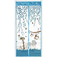 XXYsm Magnetic Fly Screen Door Net,Automatically Shut Mesh Curtain ,Keeps Bugs/Mosquitoes Out,Lets Fresh Air In (90cm*210cm, Blue)