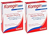Healthaid Korean Ginseng 600 mg 30 capsules one a day 2 bottles Combo Amazon