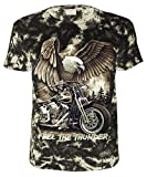 Biker T-Shirt Feel the Thunder Batik Größe M