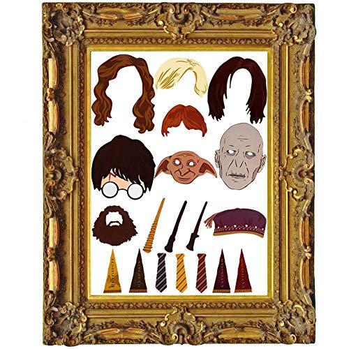 Witch's Magic House Photobooth Props (20 PCS), Harry Potter Partei liefert, Harry Potter Zauberstab Foto Requisiten, mit Stöcken und wiederverwendbar, Hochzeit, Baby Show, Geburtstag Party ()