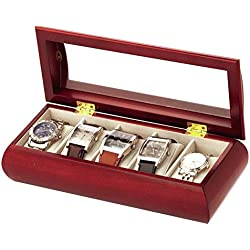 Mele Large Cherry Finish Watch Holder Cherry