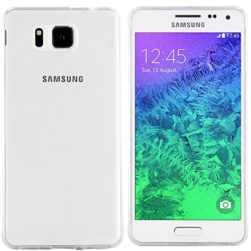 moodie Silikonhülle für Samsung Galaxy Alpha Hülle Ultraslim in Transparent - Case Schutzhülle Tasche für Samsung Galaxy Alpha