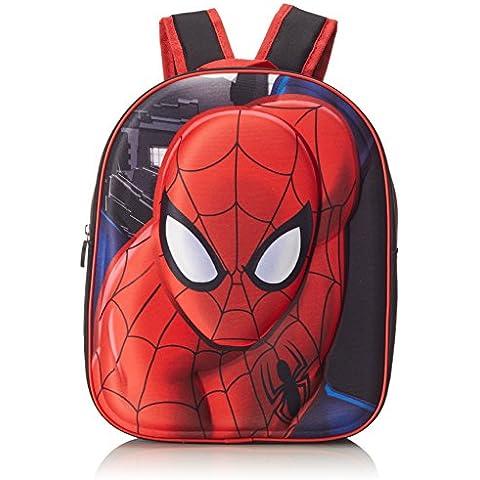 Artesanía Cerdá Spiderman Mochila Infantil, Color Rojo y Negro