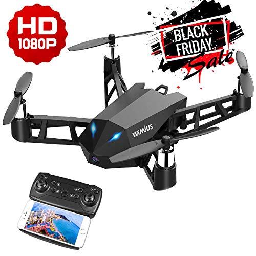 WiMiUS Drone con Cámara HD 1080P Auténtica, 2.4G FPV WiFi Dron y 6 Ejes Tiene Función de Estabilización de Altitud con Control Remoto, Puede Rotar 360°