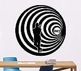 Lyqyzw James Bond Wandtattoo Agent 007 Poster Vinyl Aufkleber Movie Decor Art Kinder Jungen Wanddekoration Vinyl Aufkleber Für Wand57 * 57 Cm