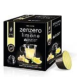 King Cup - Zenzero e Limone - 1 confezione da 10 Capsule Compatibili Nescafè* Dolce gusto*