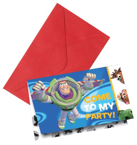 amscan 6 Cartes d'invitation Toy Story 3™