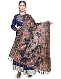 Mrinalika Fashion Cotton Silk Digital Print Dupatta (Dupattas For Womens _Salwar Suit Dgdpt25_Beige_Free Size)