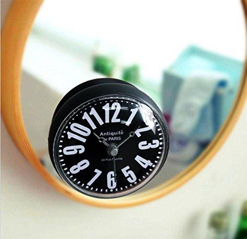 Reloj de Pared 3D Reloj creativo Minimalista Digital Cuarto de baño / WC / Cocina / Reloj impermeable Lechón Relojes 8CM (reloj de refrigerador de succión directa) , b