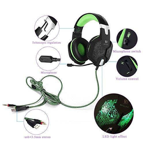 bengoo Gaming Headset pc cuffia con microfono da 3 6a3e1963ff76