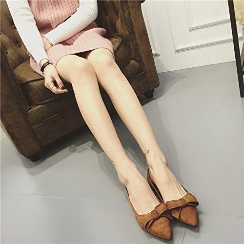 WYMBS Chaussures pour femmes chaussures couteaux bow a souligné les chaussures plates chaussures chaussures confortables chaussures de bureau Red