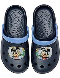 Disney Mickey Mouse Zuecos/zapatillas en color azul oscuro, diferentes tamaños