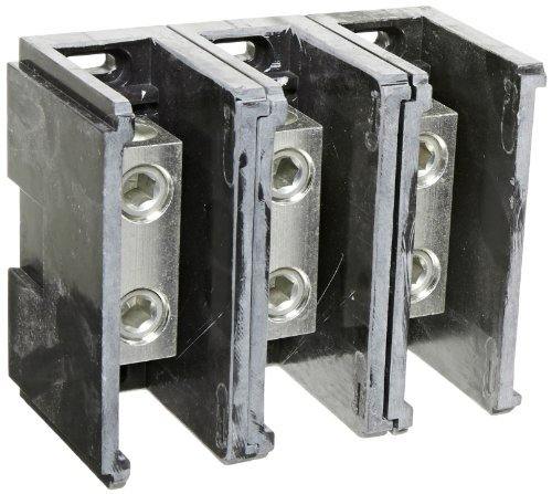 Power Distribution and Terminal Block, Connector Blok - Splicer/Reducers, 250MCM-6 AWG Line and 250MCM-6 AWG Load Side Configuration, 1.71 Width, 2.62 Height, 4.00 Length by NSI Nsi Power Distribution Blocks