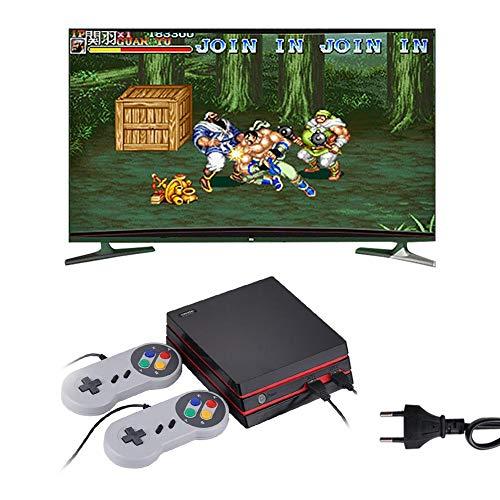Retro-Spielkonsole 4K HDMI Video eingebaut 300 klassische Spiele Retro mit Batterien Joysticks EU Schwarz