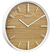 London Clock 1922 - Oslo - Skog - White & Wood Wall Clock