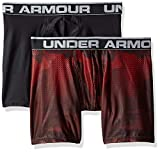 Under Armour, O-Series 6in Boxerjock 2pk Novelty, Boxer, Hombre, Radio Red/Black, X-Large